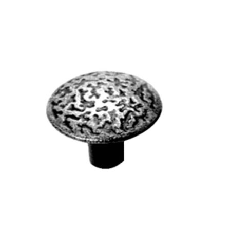 Acorn Manufacturing Rough Iron 1-3/8 Inch Diameter Black Iron Cabinet Knob