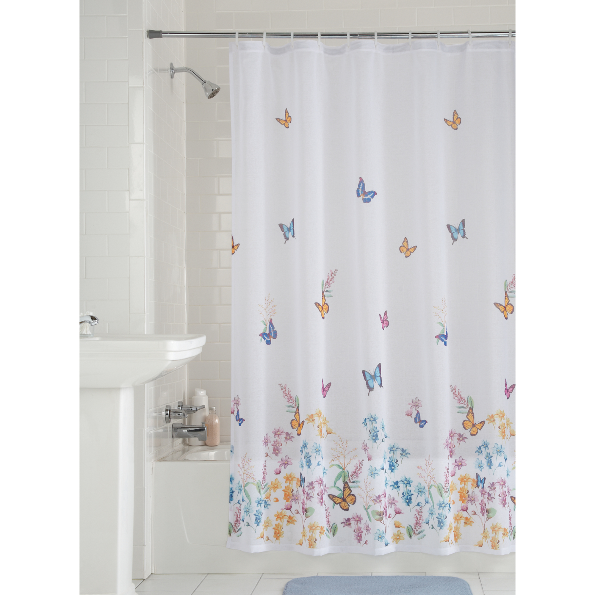 Horse Shower Curtain Fabric Bathroom Decor Set with Hooks 4 Sizes Available