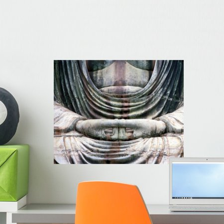 Buddha Three Wall Mural by Wallmonkeys Peel and Stick Graphic 18 in W