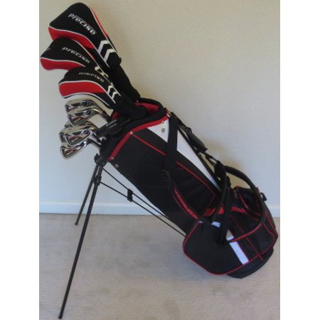 Mens Complete Golf Set Regular Flex Driver, Fairway Wood, Hybrid, Irons, Sand Wedge, Putter & Stand Bag Right Handed