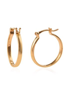 925 Sterling Silver 14K Yellow Gold Plated Hoops Hoop Earrings Gift Jewelry for Women