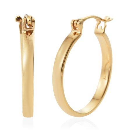 ee785588a Shop LC - 925 Sterling Silver 14K Yellow Gold Plated Hoops Hoop Earrings  Gift Jewelry for Women - Walmart.com
