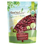 Food to Live Certified Organic Dried Cranberries (Non-GMO, Unsulfured, Bulk) (2 Pounds)