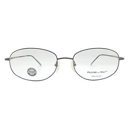 Oliver And Mac Men's London Eyeglasses Prescription Frames (Gun Metal, (Womens Metal Eyeglass Frames)