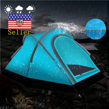 2 Person Shelter (Camping Tents Outdoor Warrior Pro Backpacking Light Weight waterproof Family Tent - 2 Person 3 Season Instant Portable Shelter Easy Set-Up (PATENT PENDING) by)