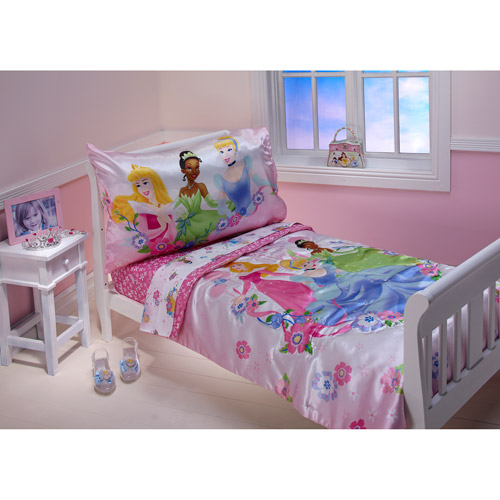 Disney Princess - Floral Dreams Toddler Bedding 4-piece Set