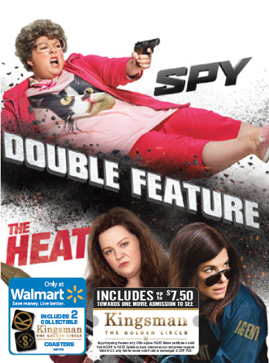 Double Feature: Spy & the Heat (Walmart Exclusive) (DVD) by