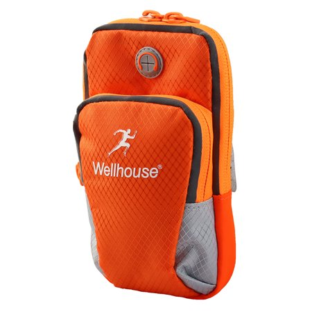 Wellhouse Authorized Phone Holder Adjustable Running Sports Arm Bag Orange M - image 4 of 4