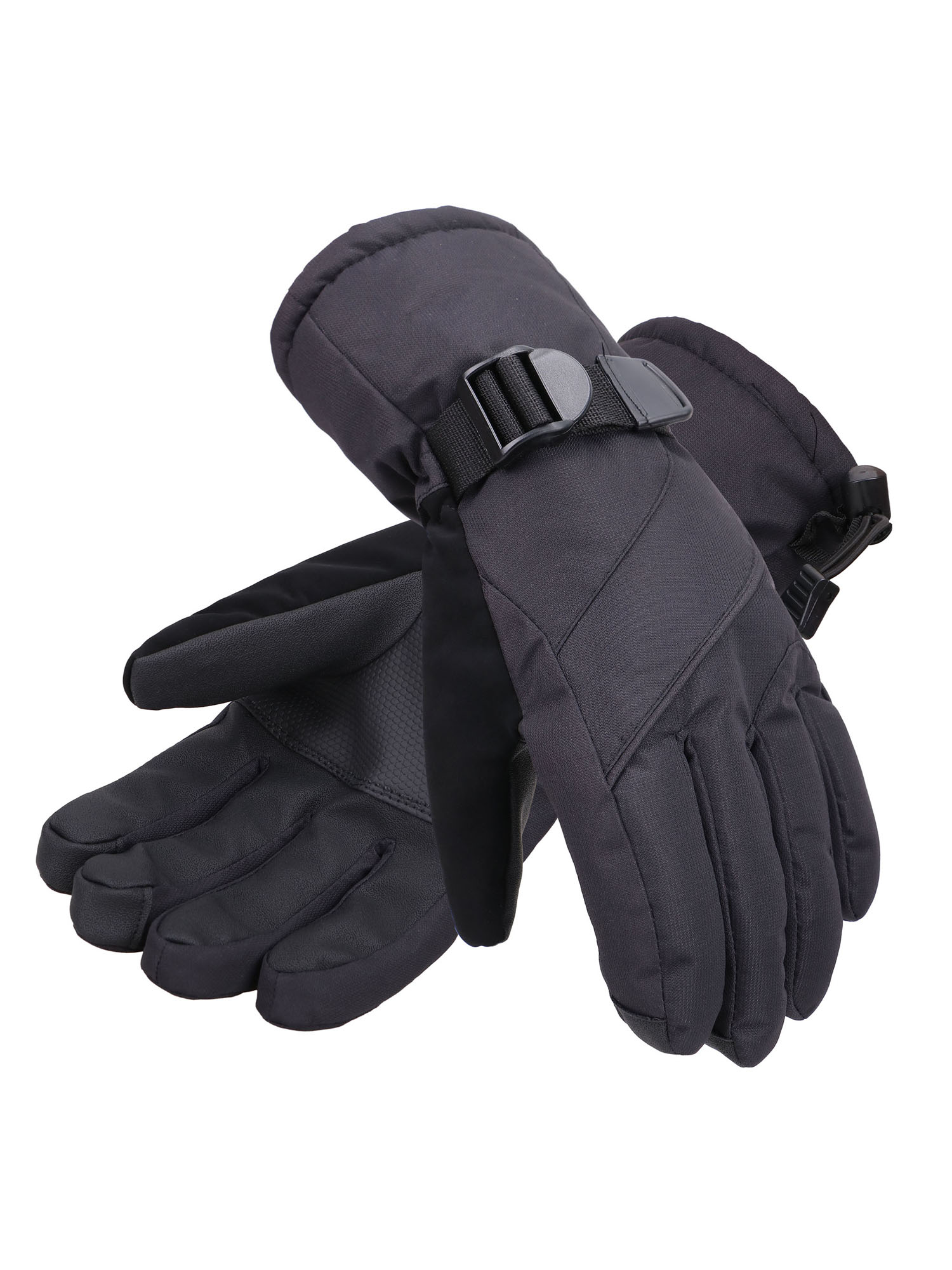 Toppers Mens Waterproof Winter Thinsulate Lined Snowboard Ski Gloves Black1 L