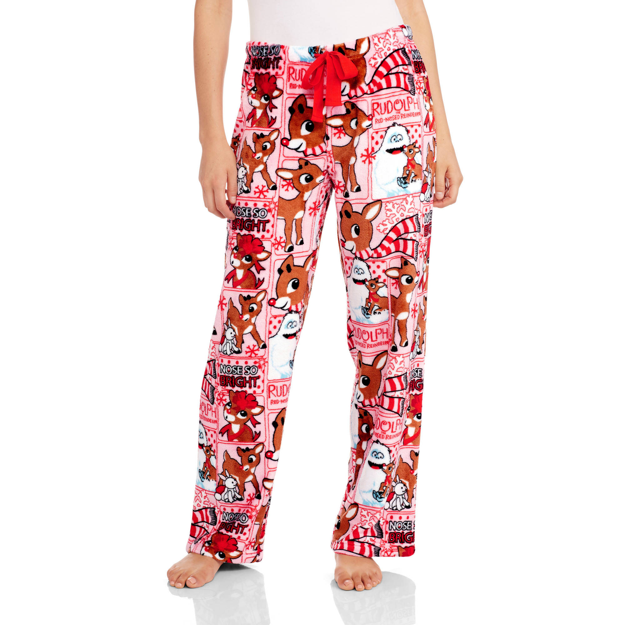 Rudolph Women's License Pajama Super Minky Plush Fleece Sleep Pant