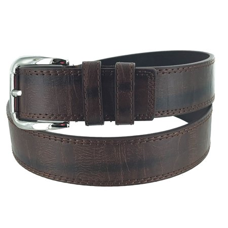 Faddism Men's Leather Horseman Collection Casual Business Single Prong Buckle Belt