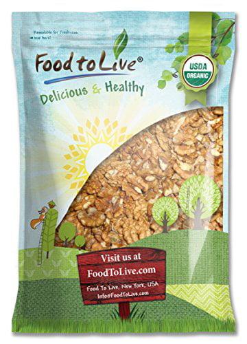 Food To Live ® Organic Walnuts (Raw, No Shell) (5 Pounds)