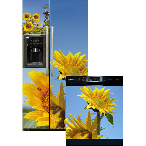 Appliance Art Sunflowers Side by Side Refrigerator and Dishwasher Cover