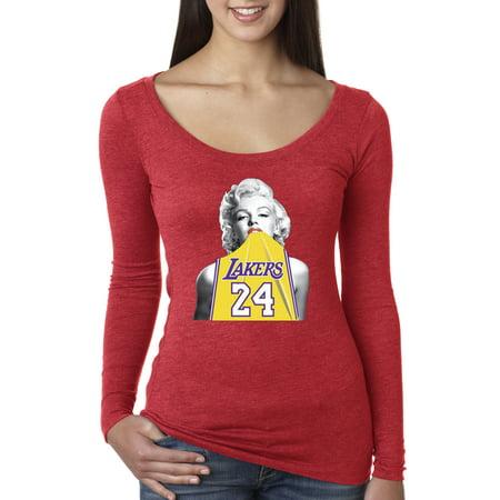 Kobe Bryant Usa Basketball Jersey - New Way 412 - Women's Long Sleeve T-Shirt Marilyn Monroe Lakers 24 Kobe Bryant Jersey