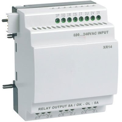Crouzet Automation 88970233 , I/O Extension Module, XR14, 100-240VAC, 8 Input, 6 Relay Output 8 Zone Input Module