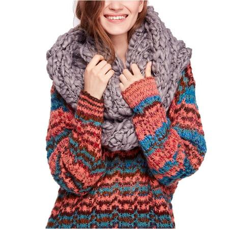 Free People | Dreamland Chunky Knit Infinity Scarf | Grey | Size OSFA Free Knitting Scarf