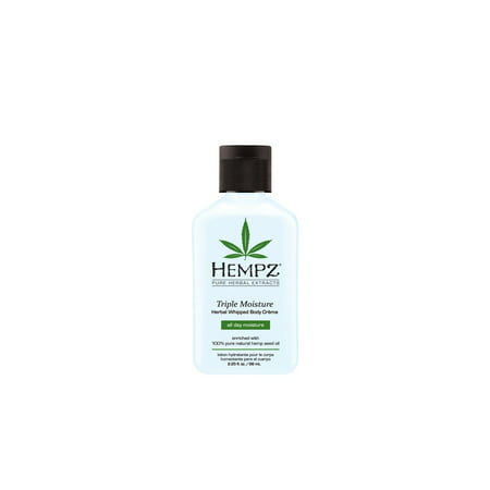 Hempz Triple Moisture Herbal Whipped Body Crème- 2.25 oz.