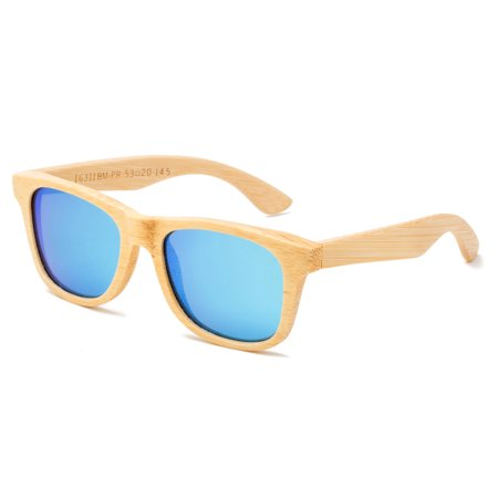 Genuine Handmade Wood Sunglasses Anti-glare Polarized Wooden Spring Hinges with Bamboo box