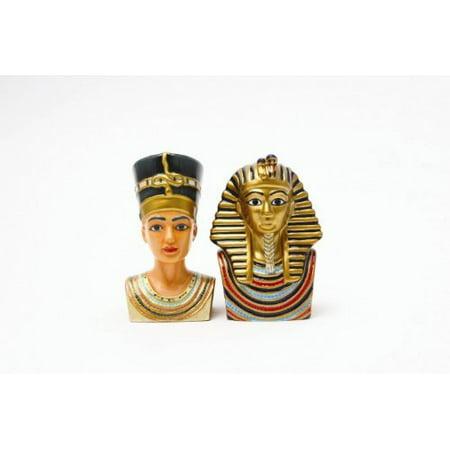 Egyptian King Tut & Queen Nefertiti Salt & Pepper Shakers, Great Gift idea! By Pacific - Queen Nefertiti Costume Ideas