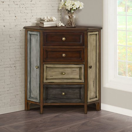 Gallerie Decor Conventry Corner (Contemporary Walnut Cabinet)