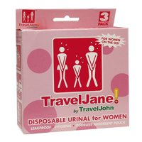 TravelJohn TravelJane Disposable Urinal for Women