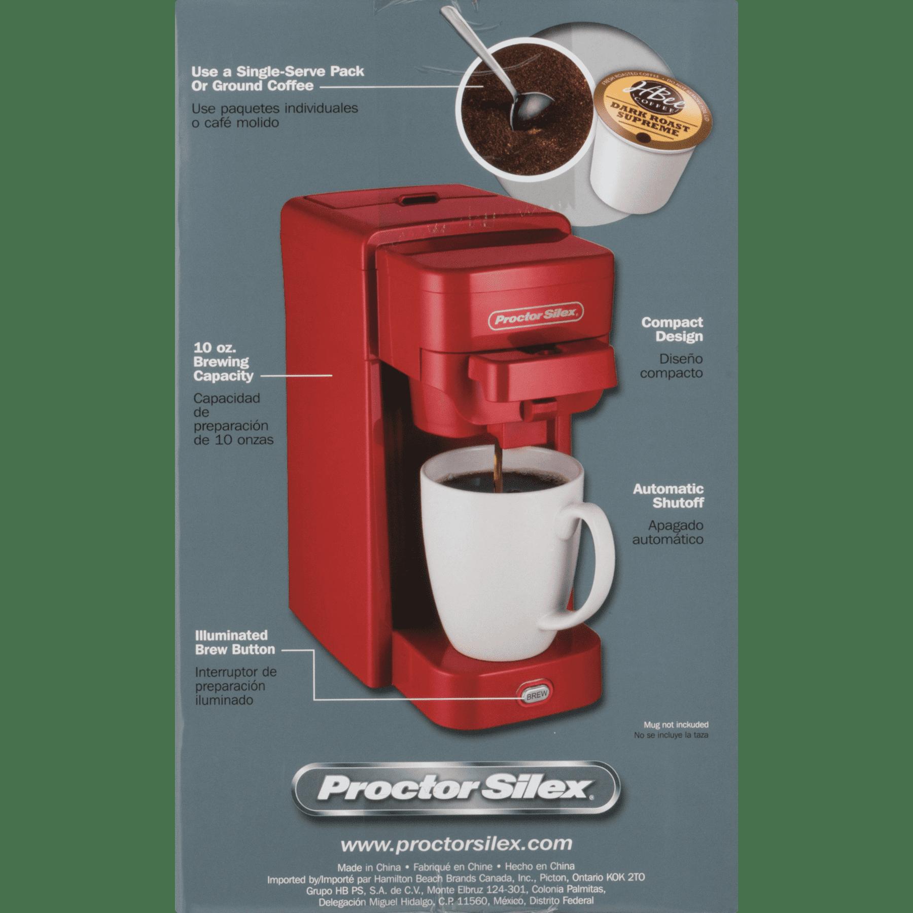 Proctor Silex Single Serve Coffeemaker Model 49961 Walmartcom