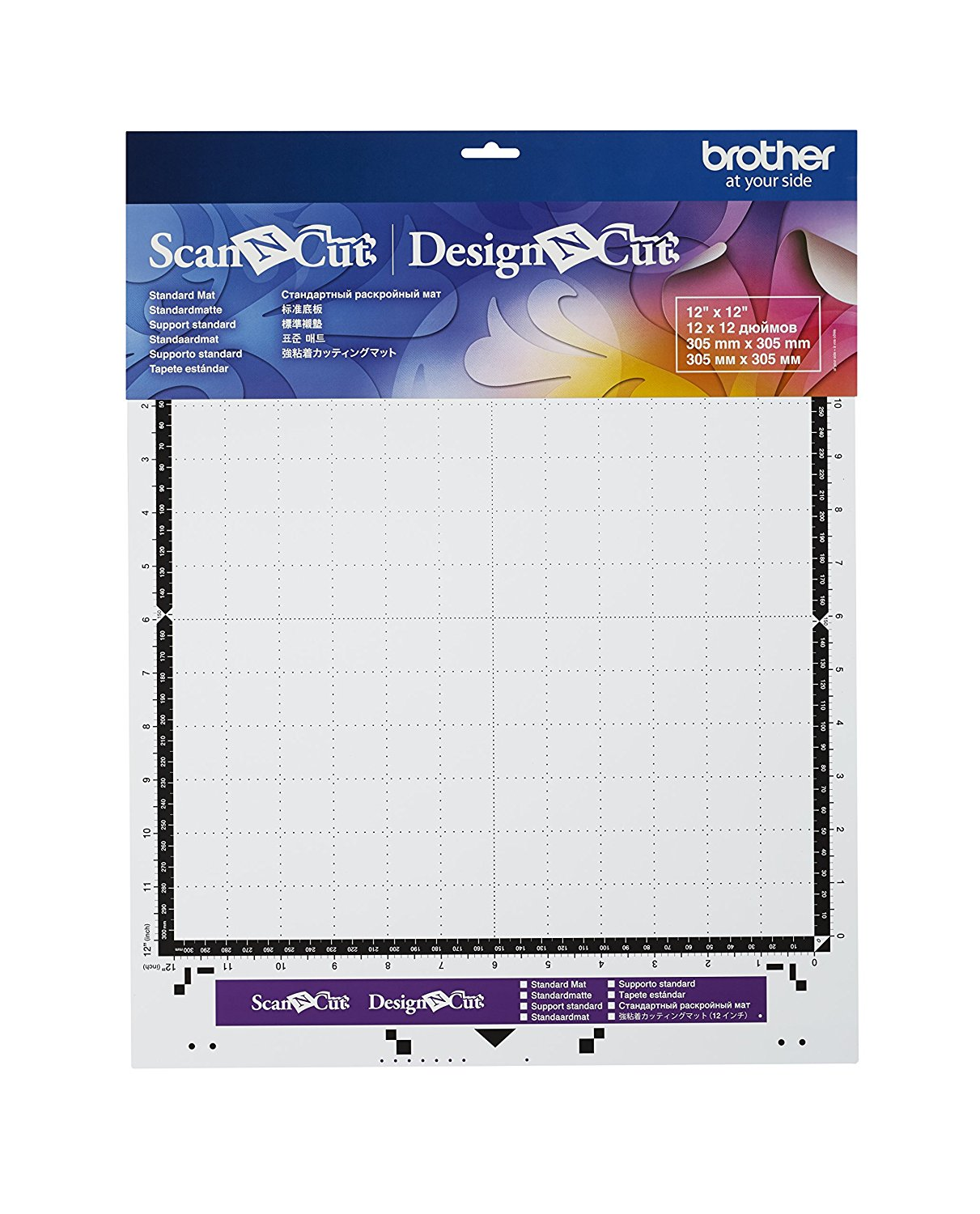 "Brother ScanNCut Standard Tack Adhesive Cutting Mat 12""x12"" by Brother Sewing"