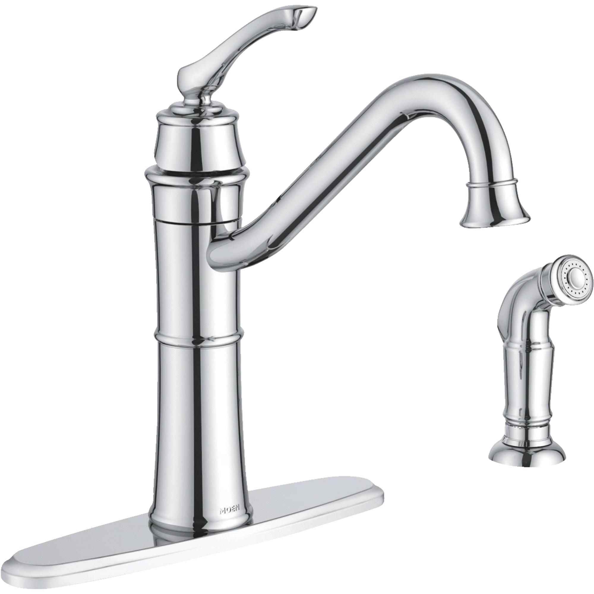 Moen Wetherly Single Handle Kitchen Faucet With Side Sprayer Walmart Com Walmart Com