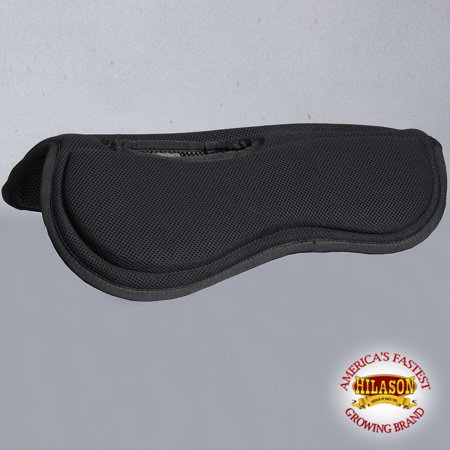 TA350F- HILASON WESTERN BLACK WITHER RELIEF ANTI-SLIP W/ MEMORY FOAM SADDLE (Best Saddle Pad For High Withers)