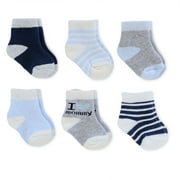 Child of Mine by Carter's Newborn Baby Boy Terry Crew Socks, 6 Pack