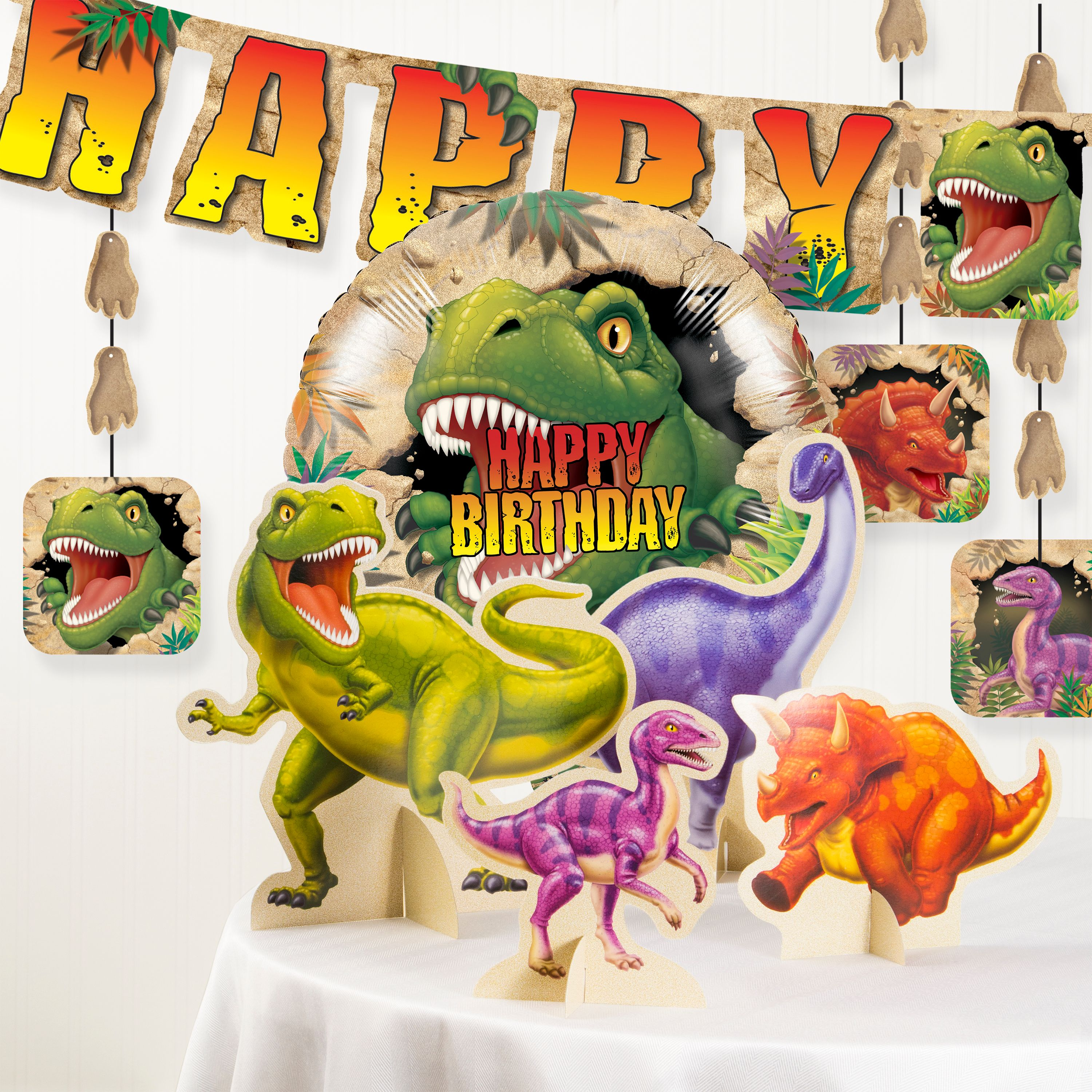 Dinosaur Birthday Party Decorations Kit