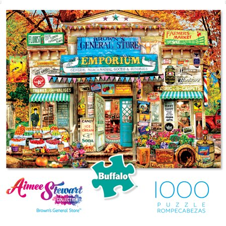 Buffalo Games Aimee Stewart Collection Brown's General Store 1000 Piece  Jigsaw Puzzle