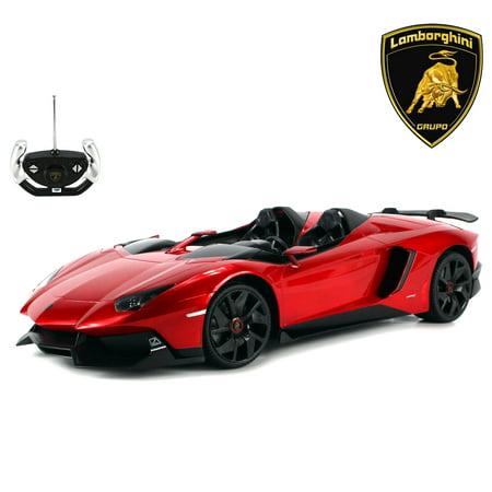 Futaba Rc Model (Licensed RC Car 1:12 Scale Lamborghini Aventador J | Rastar Radio Remote Control 1/12 RTR Super Sports Car Model (Red))