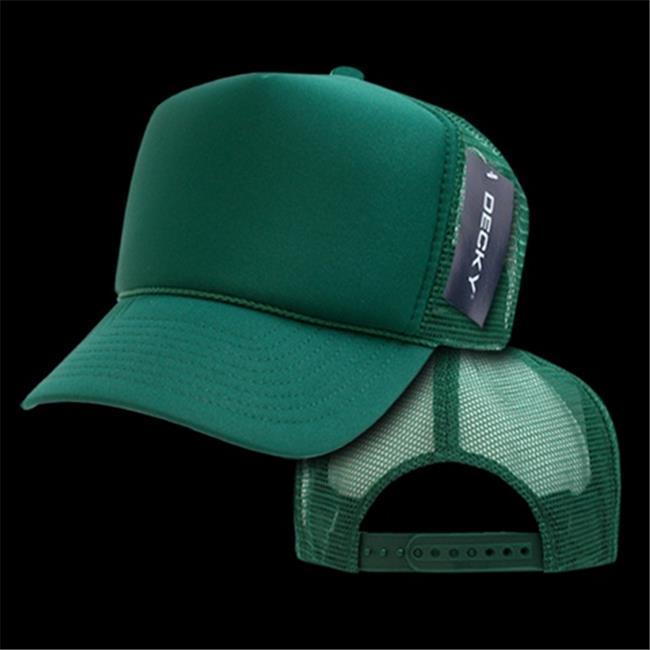 Decky 211-DK-GRN Solid Trucker Cap, Dark Green - image 1 of 1