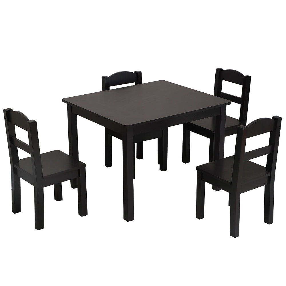 Basics Solid Wood Kid Desk and Chair Espresso