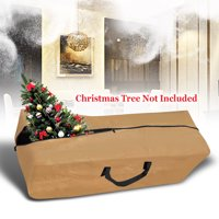 Sunrsie Large Artificial Christmas Tree Storage Bag for Clean Up Holiday Up to 9', Green