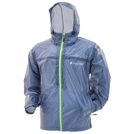 Frogg Toggs Xtreme Lite Waterproof Rain Jacket, Blue/Hi-Vis, Size XX-Large ()