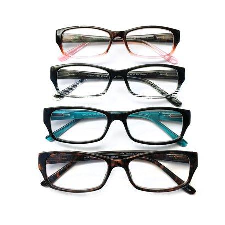I.Image Women's Plastic 4-Pack Reading Glasses, +1.25 Power