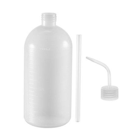 Plastic Wash Bottle Squeeze Bottle 1000ml/34oz Narrow Mouth Lab Tip Liquid Storage ()