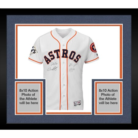 cheap for discount 90a9a d0b69 Framed Jose Altuve, Carlos Correa, Alex Bregman and George Springer 2017  MLB World Series Champions Autographed Majestic World Series White  Authentic ...