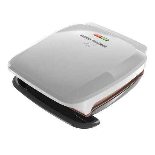 George Foreman 4-Serving Classic Plate Grill and Panini Press Select Channel, Silver, GR260P by George Foreman