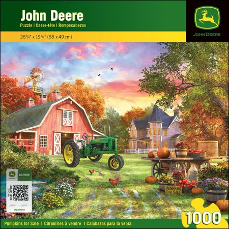 Tractor Jigsaw (MasterPieces John Deere Pumpkins for Sale - Model B Tractor 1000 Piece Jigsaw Puzzle by Dominic Davison )