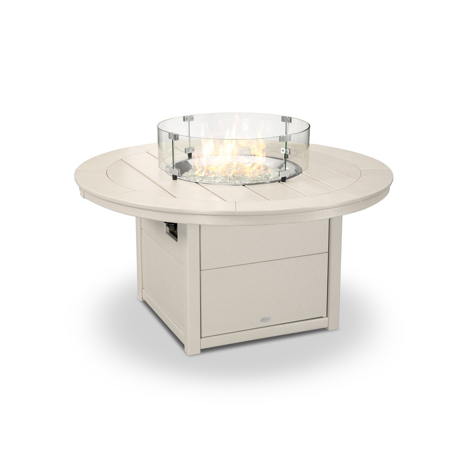 POLYWOOD Round 48 in. Firepit Table by Poly-Wood