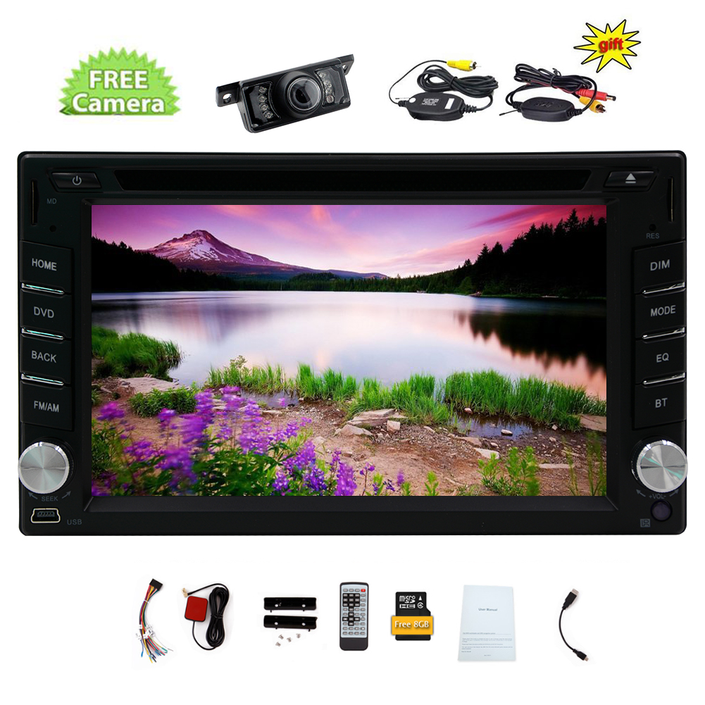 Wireless Camera is included ! 6.2-inch gps Navigation Car DVD Player Double DIN Bluetooth for Universal 2 Din... by EinCar