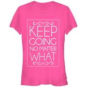 Chin Up Juniors' Keep Going No Matter What T-Shirt
