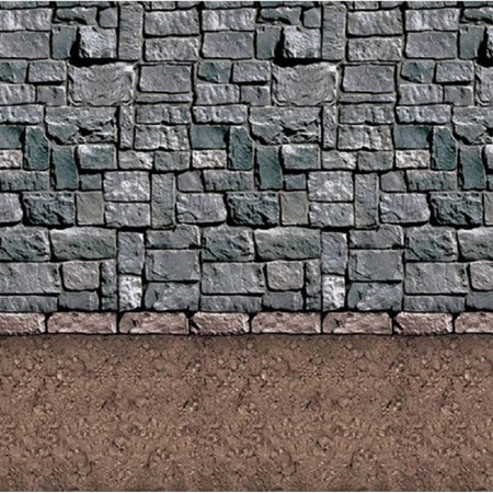 Pack of 6 Insta-Theme Dirt Floor and Stone Wall Halloween Backdrop Party Decorations 4' x 30' (100 Floors Halloween Update)