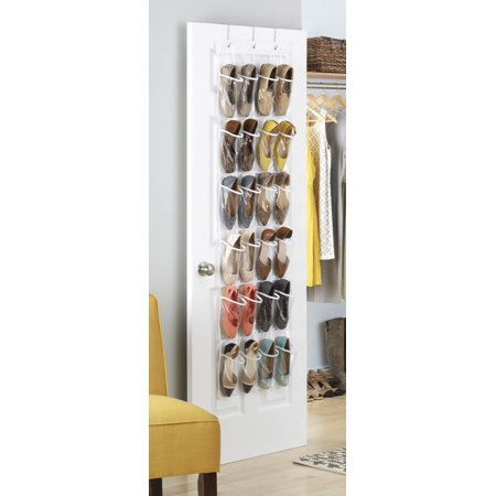 - Whitmor 24 Pocket Over the Door Shoe Organizer - Clear