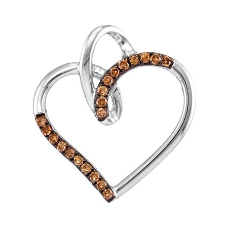 0.15ctw Cognac Diamond Fashion Pendant
