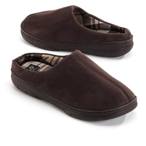 Image of Dearfoams Men's Clog Slippers, Brown, Large