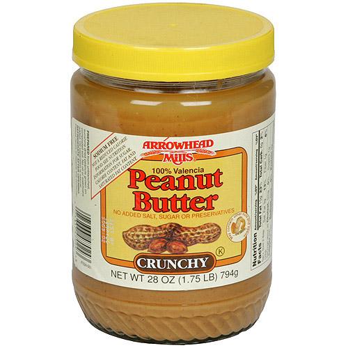 Arrowhead Mills Crunchy Peanut Butter, 26 oz (Pack of 12)